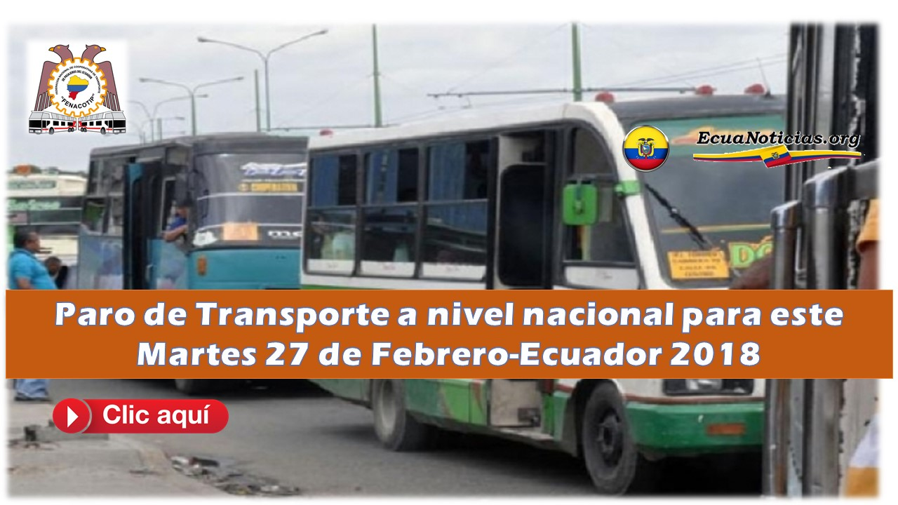 Paro de transporte a nivel nacional este martes 27 de febrero-2018 8