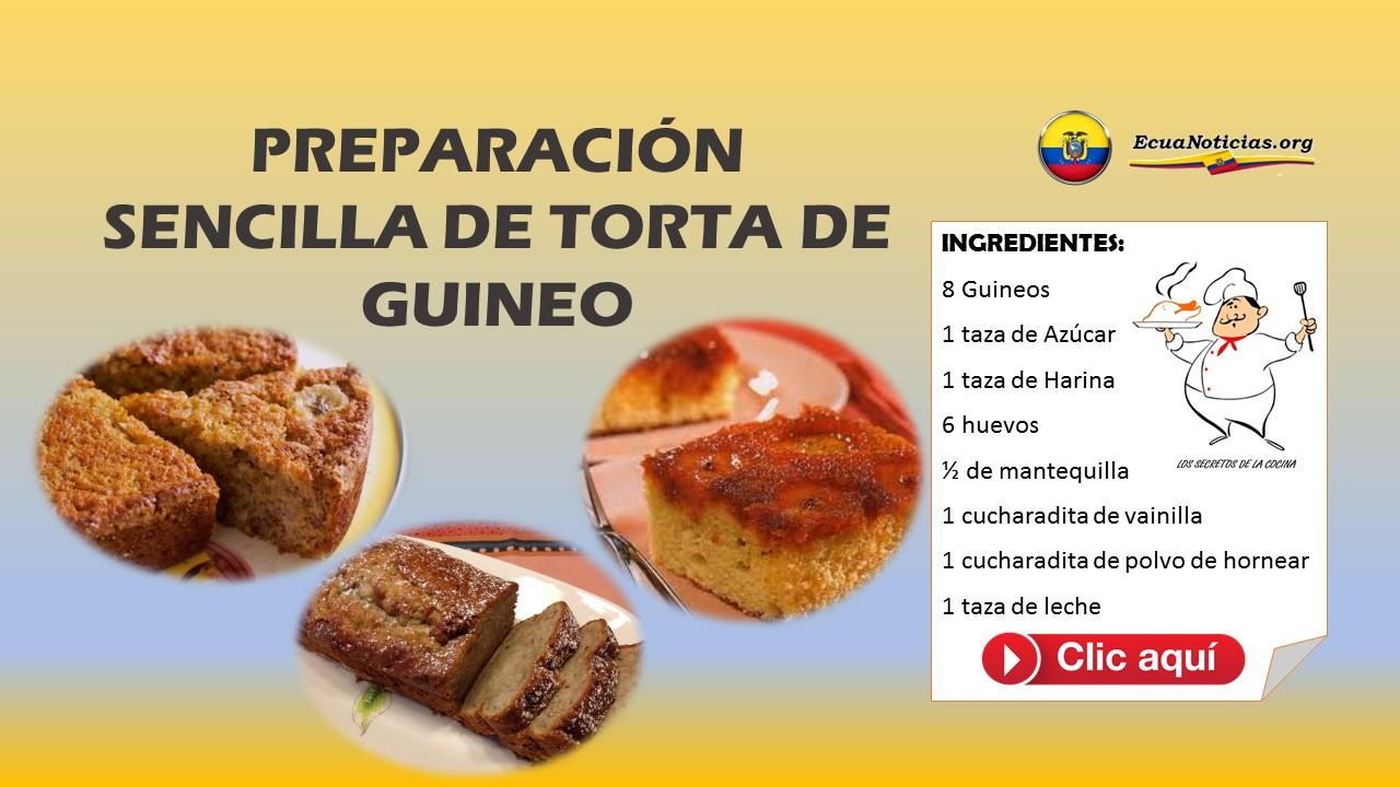 PREPARACIÓN SENCILLA DE TORTA DE GUINEO 7