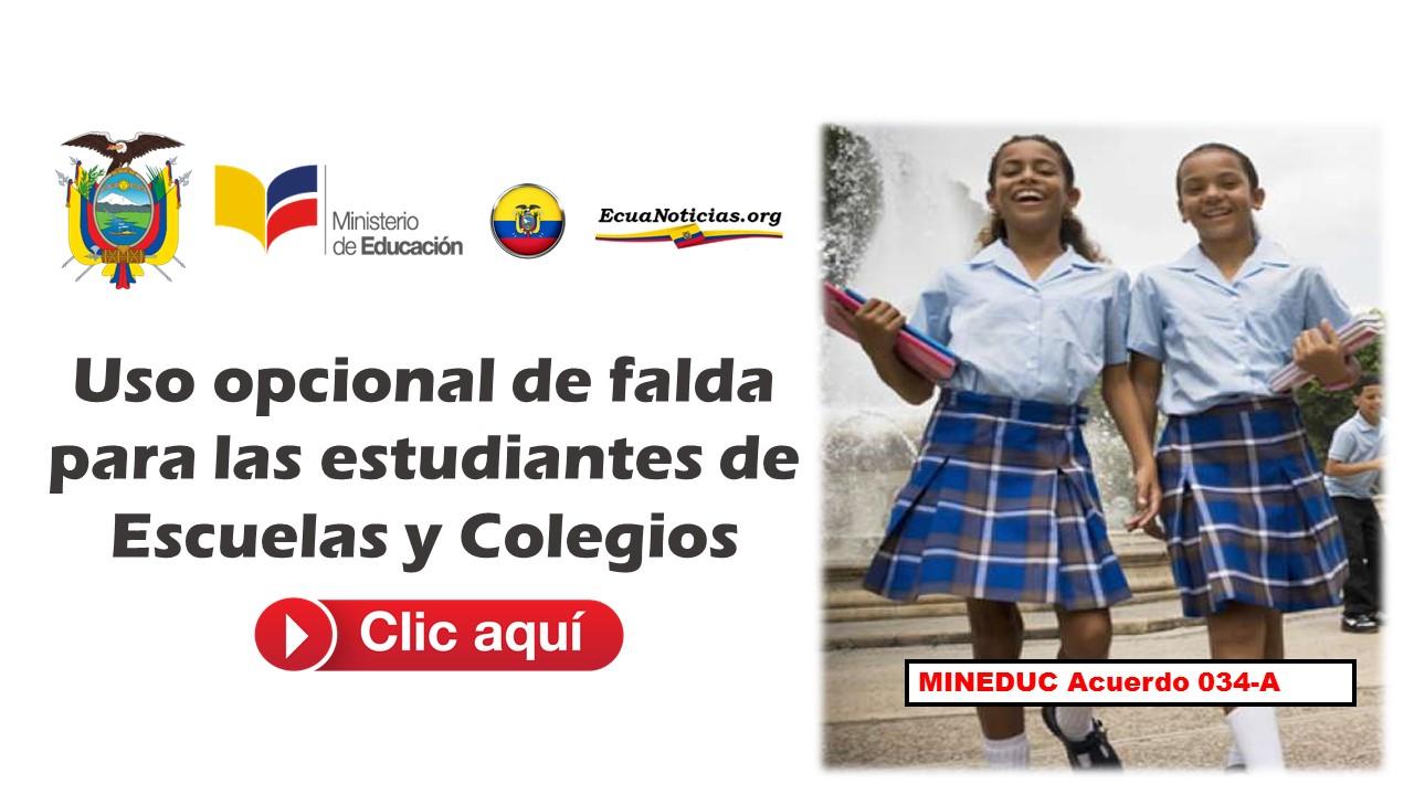 Uso opcional de falda para las estudiantes de Escuelas y Colegios