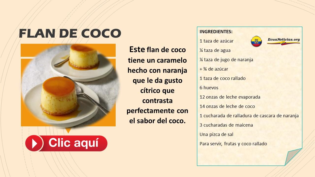 Flan de coco (porción para 10 personas) 6