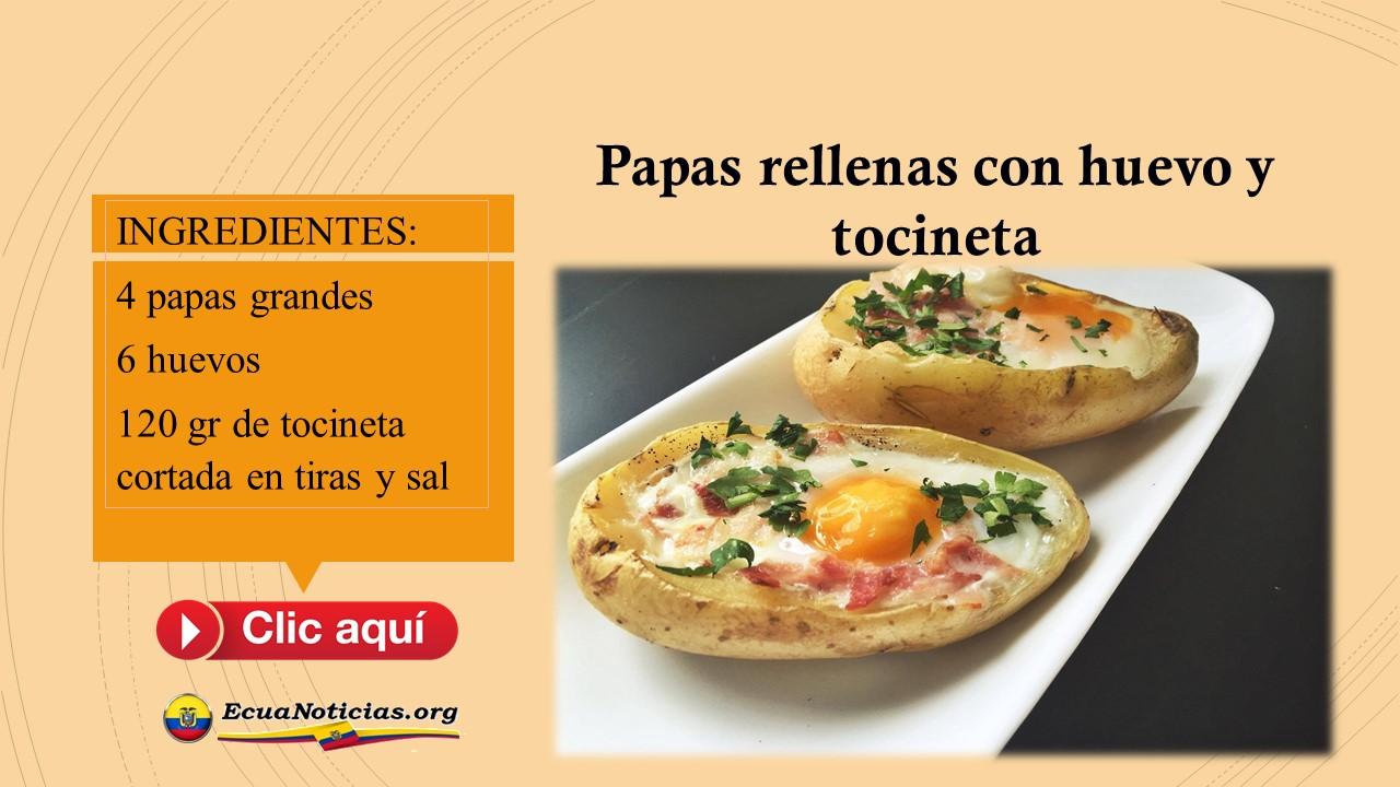 Papas rellenas con huevo y tocineta 2