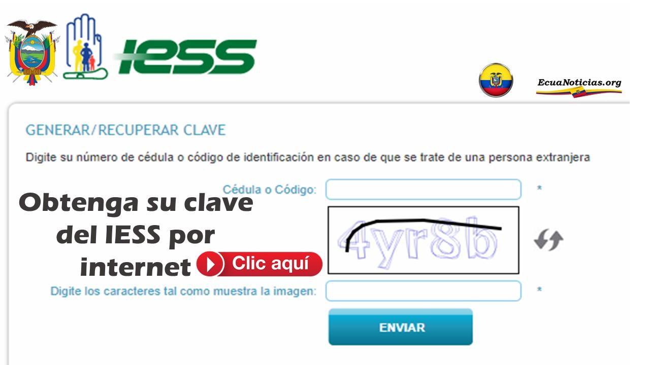Obtenga su clave del IESS por internet