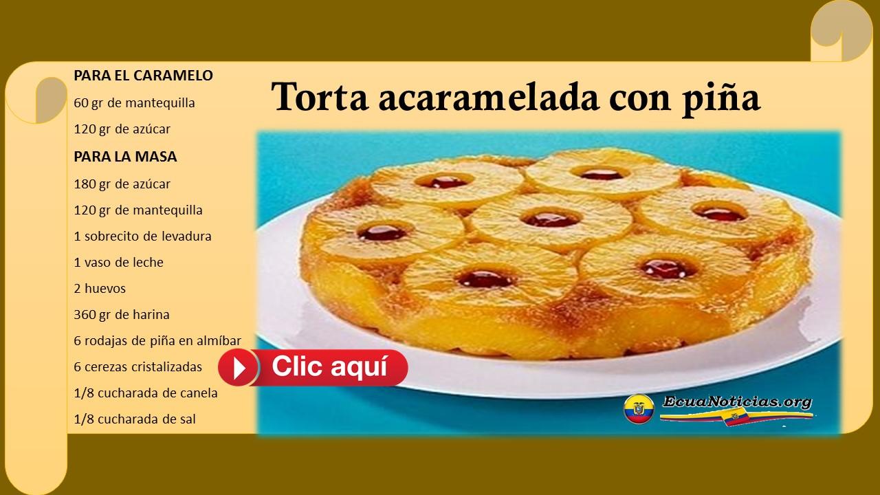 Torta acaramelada con piña 3