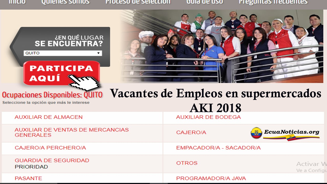 Vacantes de Empleos en supermercados AKI 2018