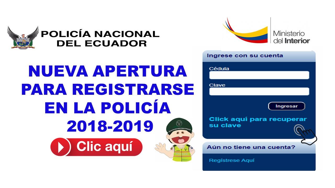 Nueva apertura para registrarse en la policía 2018-2019 3