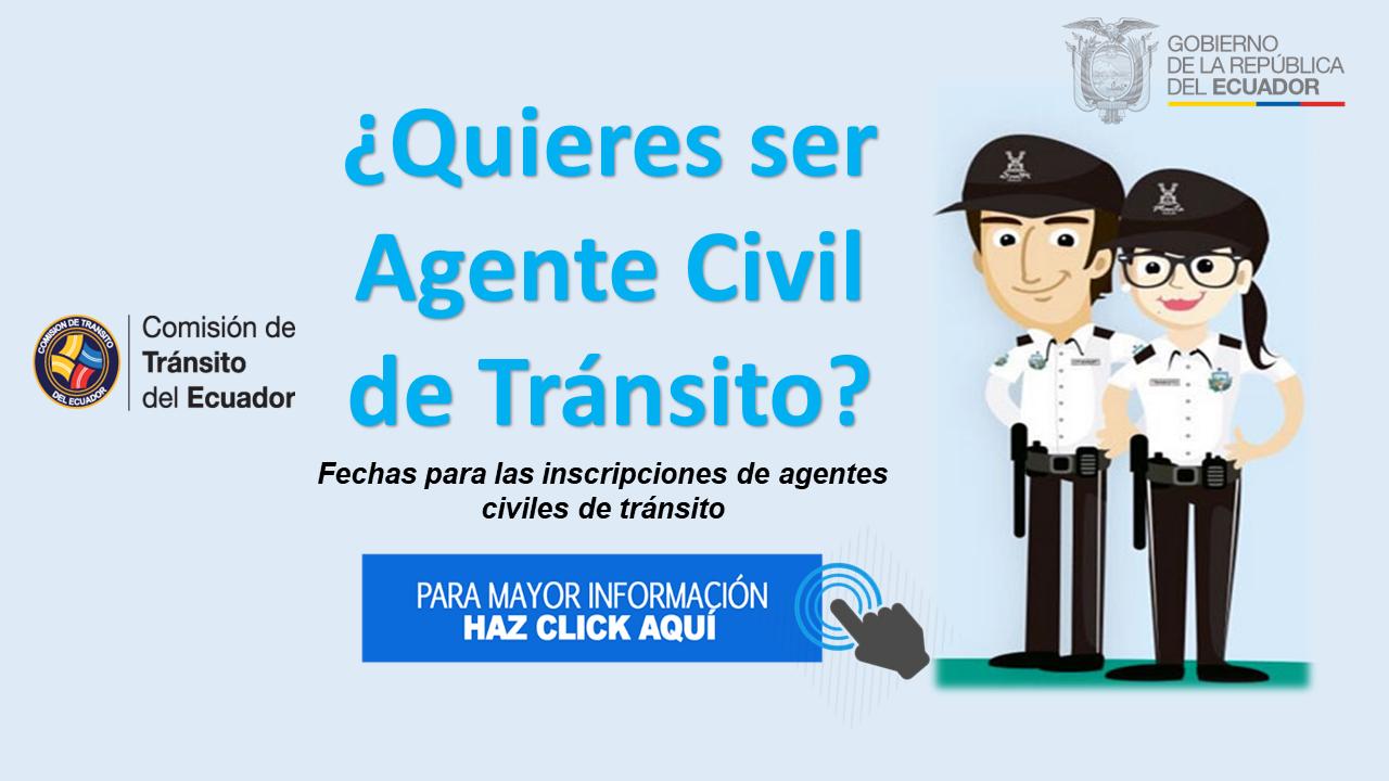 Fechas para las inscripciones de Agentes civiles de tránsito 2