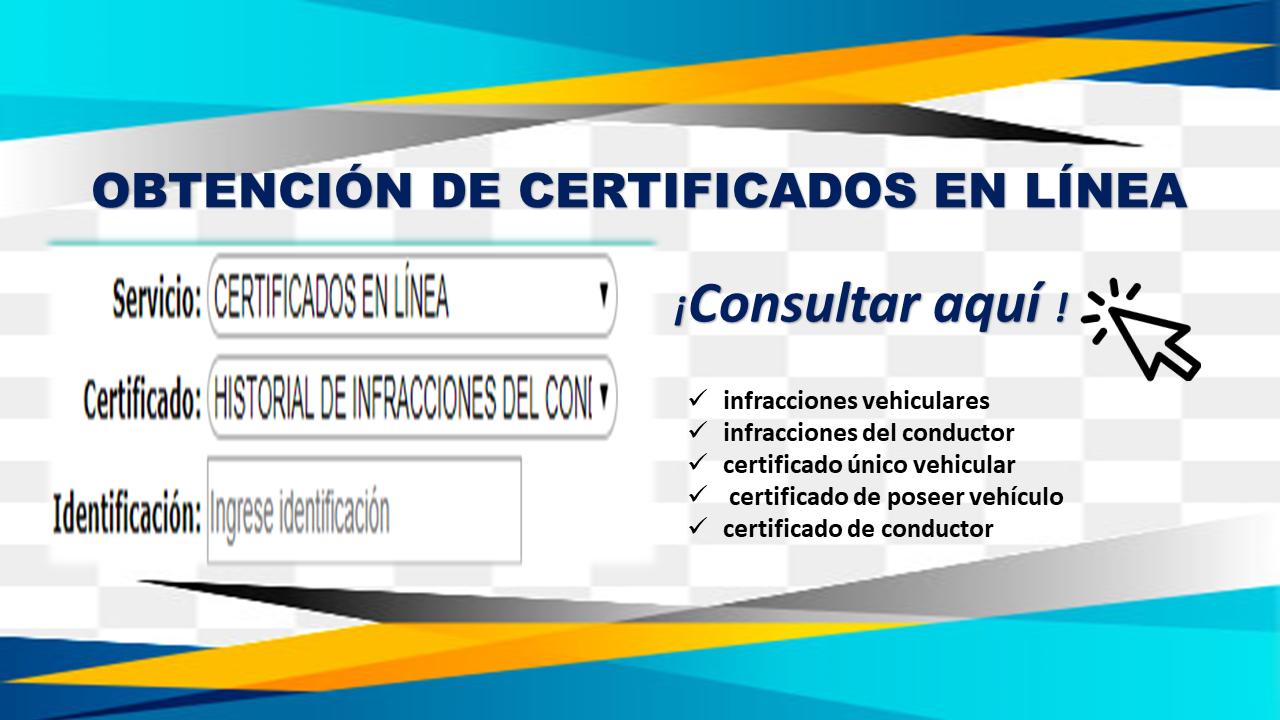 Obtención de certificados en línea