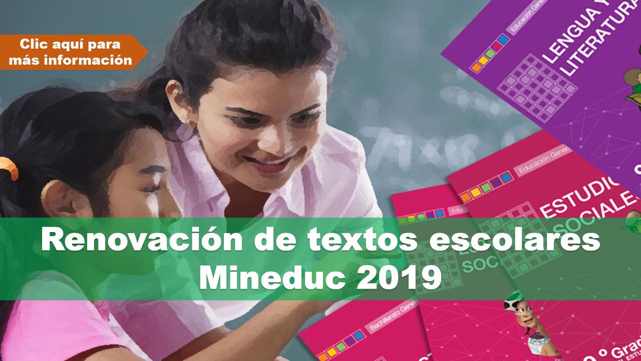 Renovación de textos escolares-Mineduc 2019