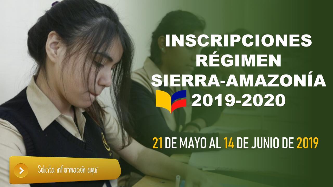 Inscripciones Régimen Sierra-Amazonía 2019-2020 3