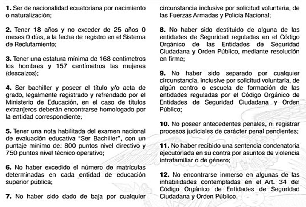 Proceso de reclutamiento, selección e ingreso de la Policía Nacional 3