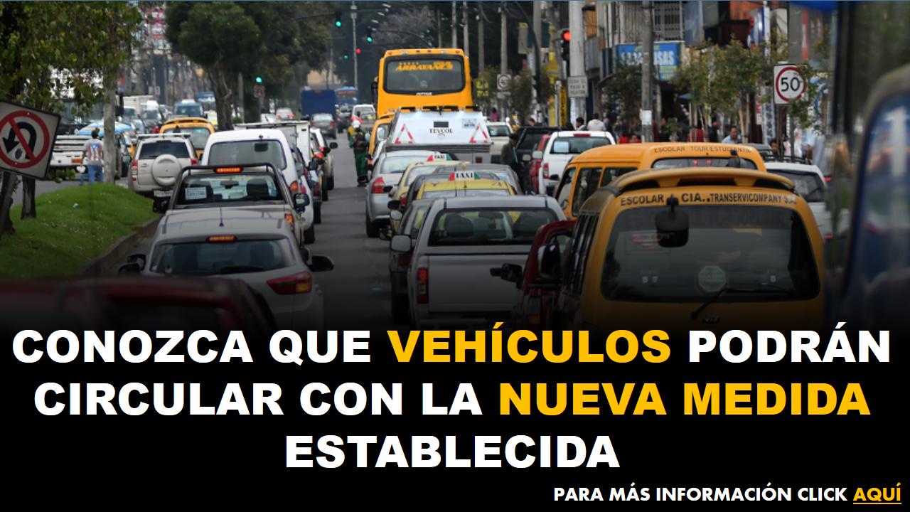 Conozca que vehículos podrán circular con la nueva medida establecida 1