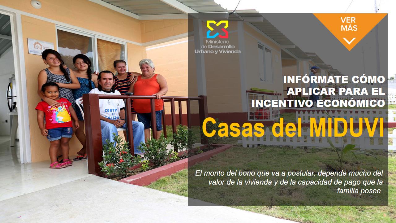 aplicar para el incentivo económico Casas del MIDUVI