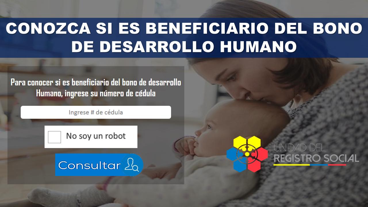 Conozca si es beneficiario del bono de desarrollo humano