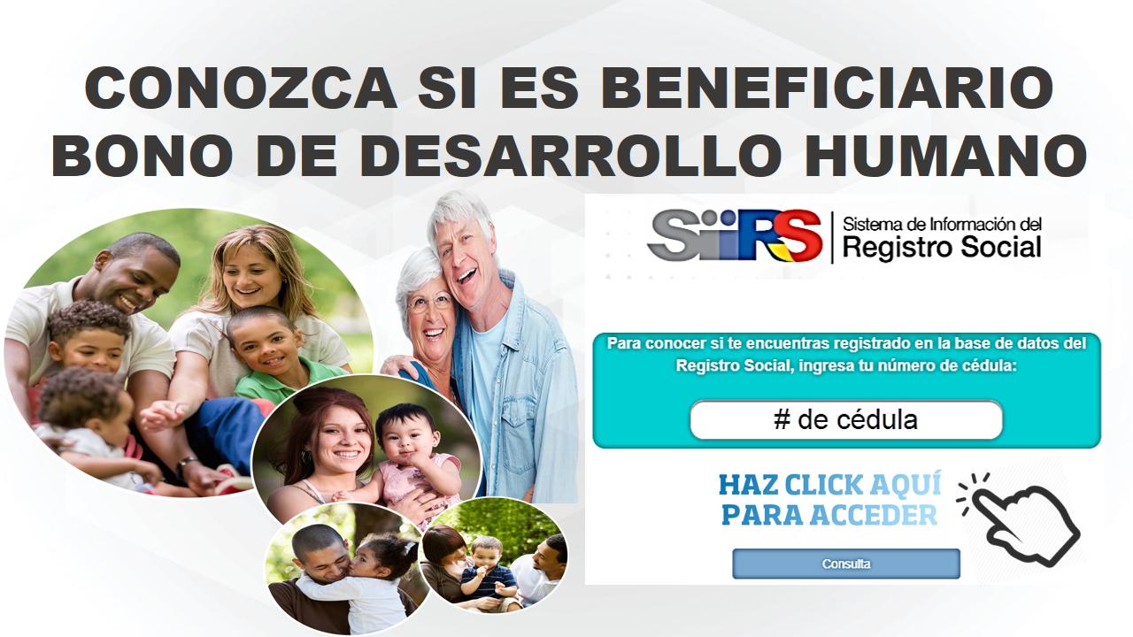 Conozca si es beneficiario del bono de desarrollo humano 6