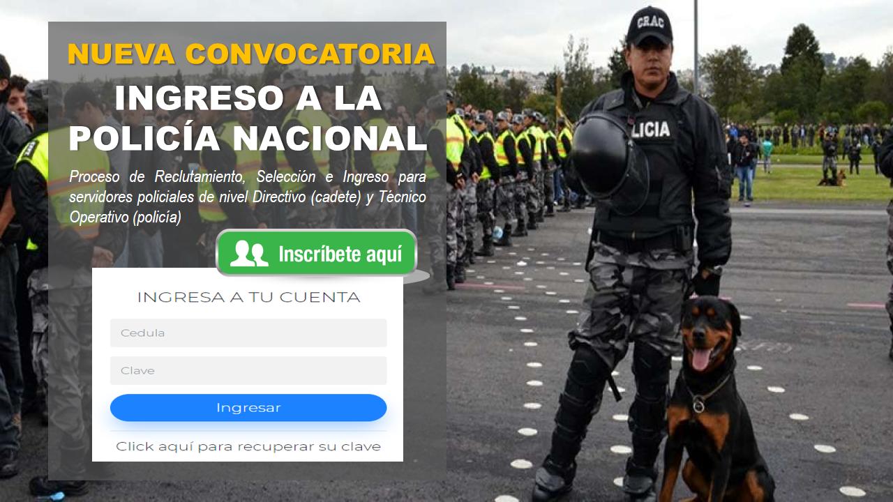 Nueva convocatoria para Ingreso a la policía Nacional 8
