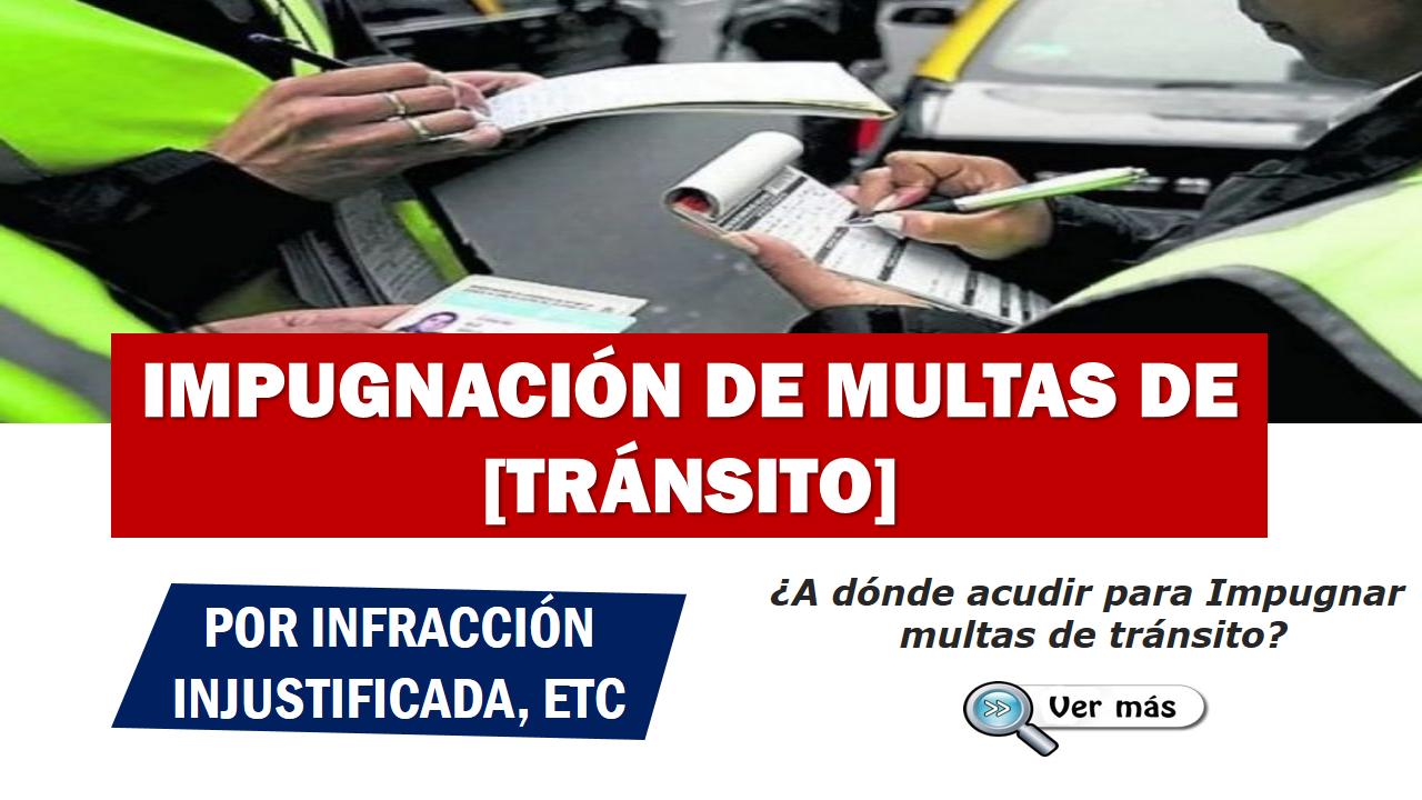 Cómo impugnar multas de tránsito (ANT)