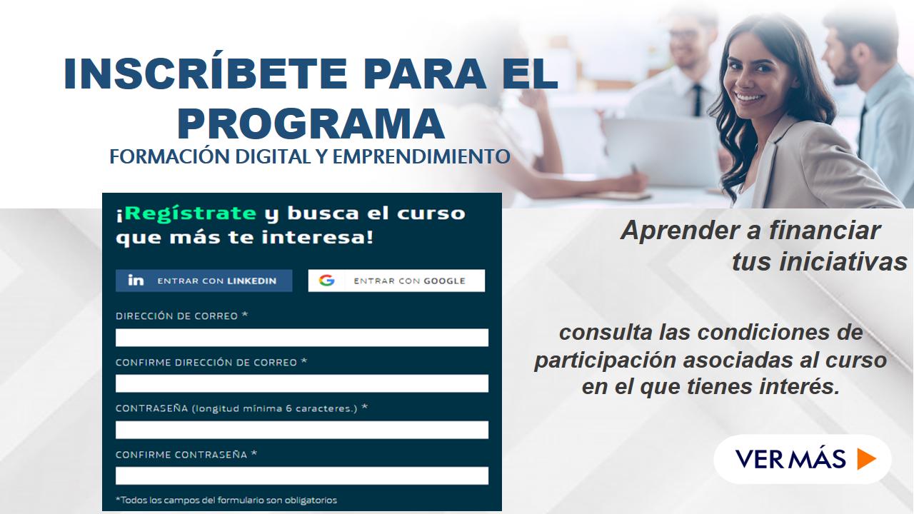 Inscríbete para el Programa de formación digital y emprendimiento 7