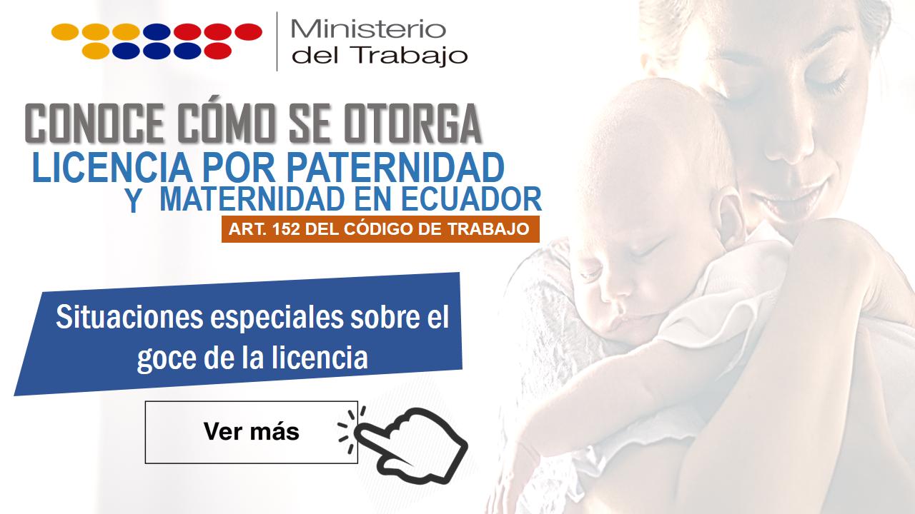 Licencia por paternidad y maternidad en Ecuador 5
