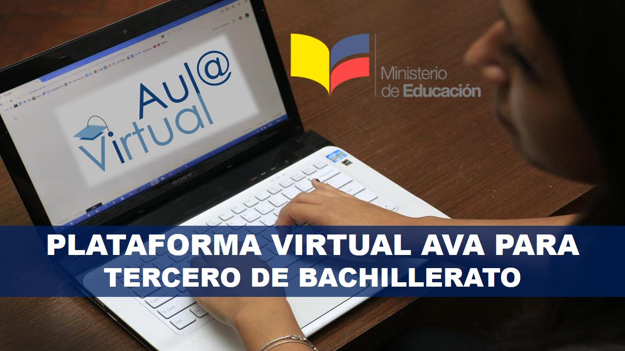 Plataforma Virtual AVA para estudiantes Tercero de Bachillerato