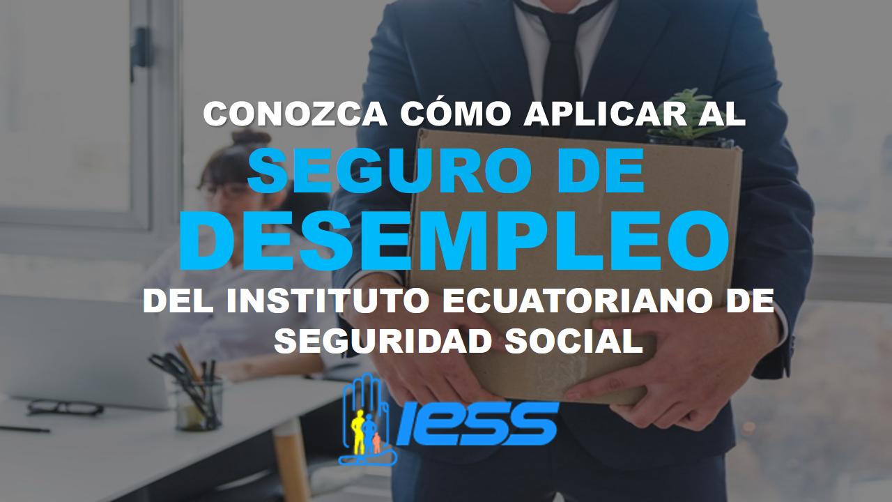 Conozca cómo aplicar al seguro de desempleo del IESS