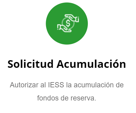 Solicitar acumulación de Décimos del IESS Ecuador