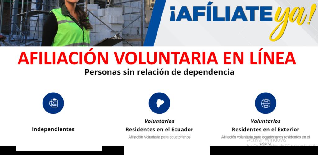 Afiliación voluntaria al IESS para ciudadanos Ecuatorianos