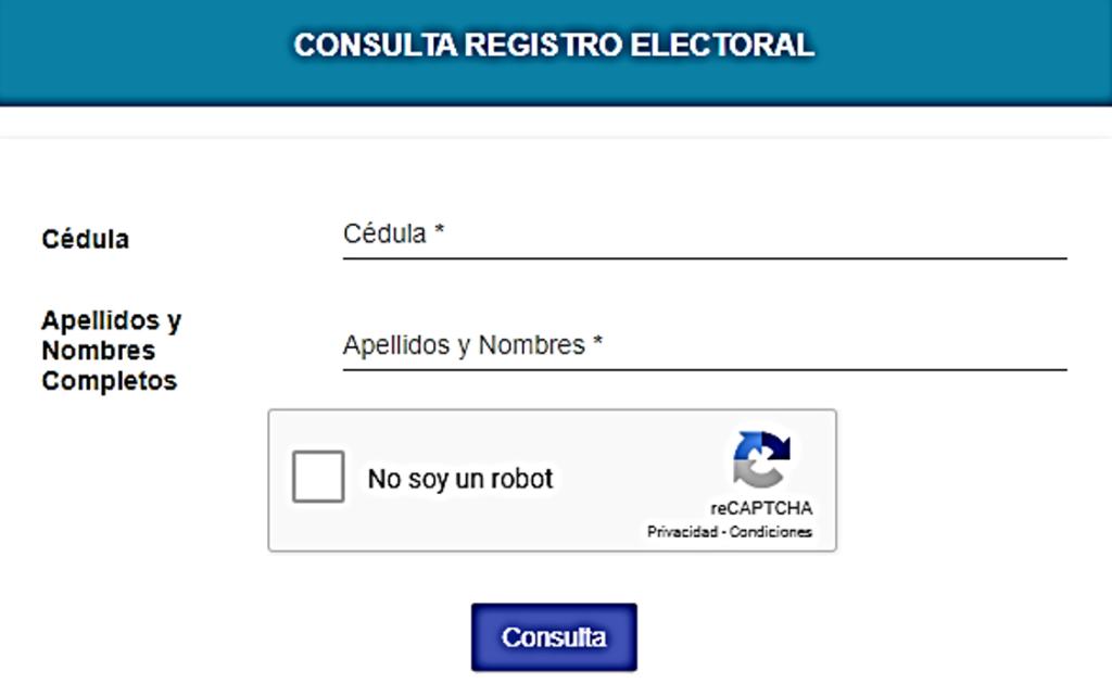Consultar si se encuentra en el Padrón Electoral pasivo para votaciones 2021