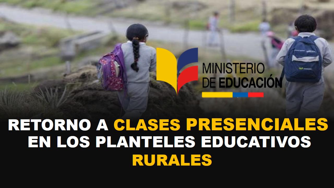 EN LOS PLANTELES EDUCATIVOS RURALES