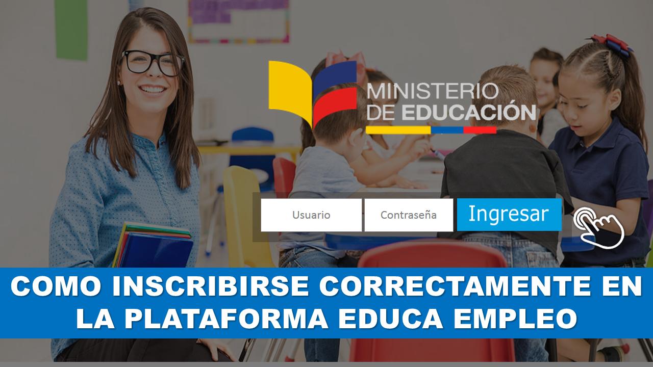 como inscribirse correctamente en la plataforma Educa Empleo