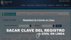 sacar clave registro civil