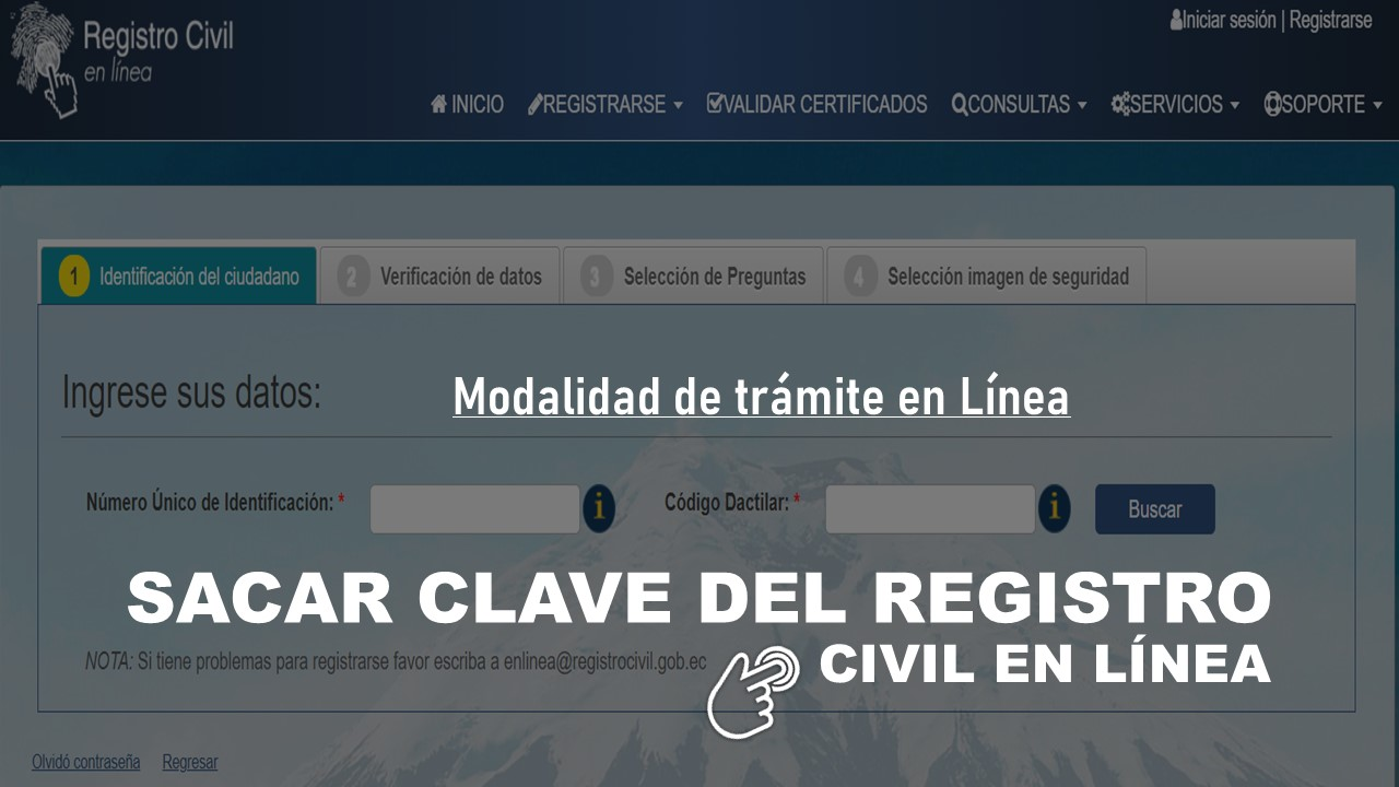 sacar clave registro civil