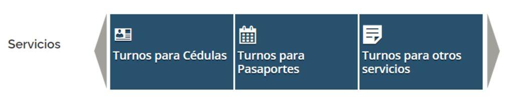 turnos para cédula, pasaportes u otros servicios