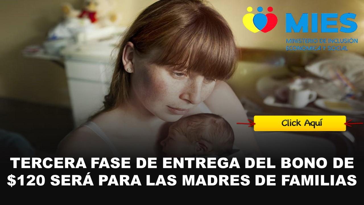 bono de 120 para madres