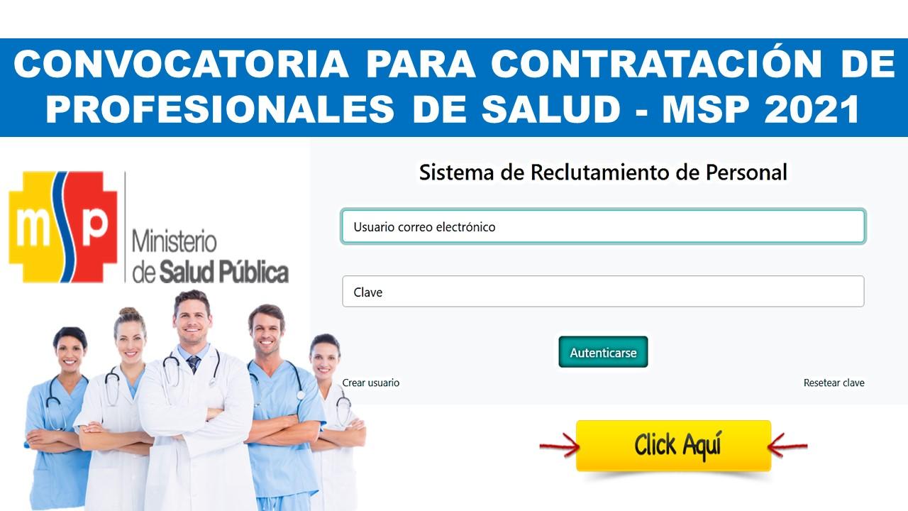 convocatoria para profesionales de salud