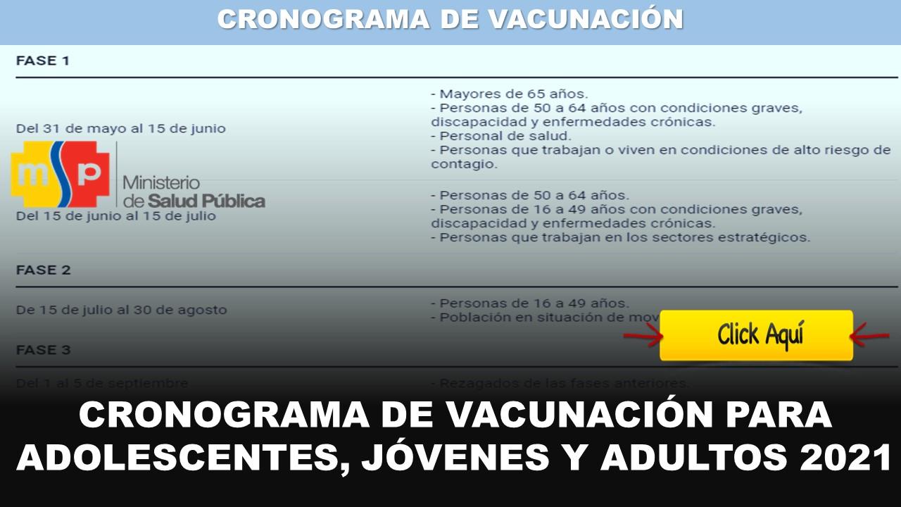 cronograma de vacunación