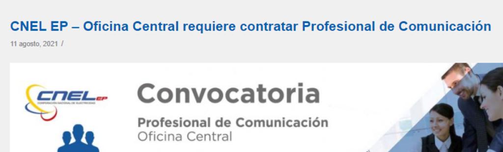 ofertas de empleo en CNEL