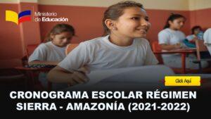 cronograma escolar sierra 2021